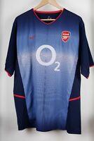 Arsenal FC 2002/2003 Away Nike O2 Football Shirt Jersey Size XL