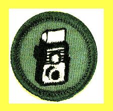 MY CAMERA Junior Girl Scout Badge Photography Photographer 1963 Multi=1 Ship Chr