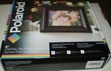 Polaroid 8 Inch Digital Photo/Picture Display Espresso Finish Wood Frame