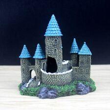 Aquarium Castle Decoration Blue Tower Fish Tank Ornament Rock Shrimp Hiding Cave