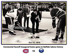 NHL 1970 Buffalo Sabres Inaugural Home Game Ceremonial Faceoff 8 X 10 Photo Pic