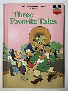 Disney's Three Favorite Tales 1975 Book Club Edition