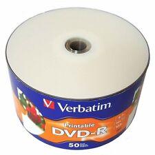 Verbatim DVD-R DVDR White Inkjet Hub Printable 16X 4.7GB 120min Blank Media Disc