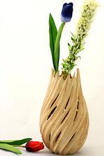 Decorative Wooden Vase Handmade Mango Wood Flame Vase - Teardrop Design