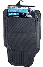 Sumex Universal Heavy Duty Durable 5mm Thick Rubber Car Floor Mats Set - Black