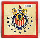 "Vintage Antique Wooden Plaque & Sign ""Club Deportive Guadalajara"" For Home Decor"