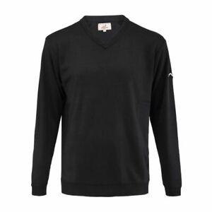 Woodworm Long Sleeve Golf Sweater (Black)