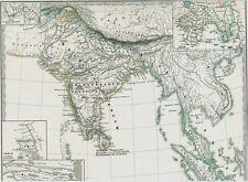 Verdadera 156 año vieja mapa india india Mahabharata brahmanes vietnam 1861