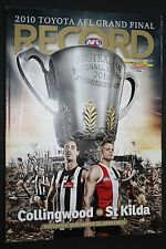 2010 Grand Final Football Record Collingwood vs St Kilda match Edition near MINT