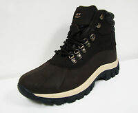Men's Winter Boots Genuine Leather Waterproof Fleece Lined Warm Snow Shoes Sizes