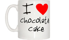 I Love Heart Chocolate Cake Mug