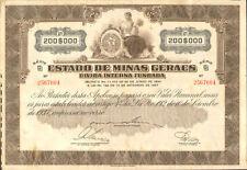 Estado de Minas Geraes > 1937 Minas Gerais Brazil internal debt bond certificate