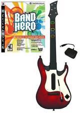 NEW PS3 Wireless Guitar Hero 5 Guitar & Band Hero Game Bundle Kit PlayStation 3