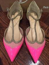NIB Christian Louboutin Mrs Early Patent Pink Glitter Ballet Flat Shoe 39 $795