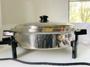 """Saladmaster Cat No.7256 Oil Core 12"""" Electric Skillet Mint Condition"""