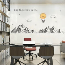 Mountains Wall Stickers For Meeting room Business/office/Study room Decor DIY