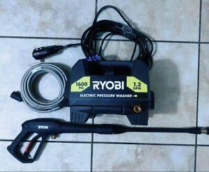 New RYOBI Electric Pressure Washer 1600 PSI 1.2 GPM Clean