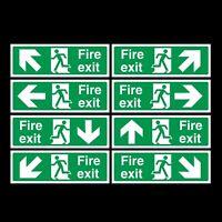 Fire Exit finale Photoluminescent plastica segno 300x100mm ee75