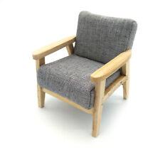 Dollhouse Modern Homestead Sofa 1:12 Fabric Armchair Miniature Furniture