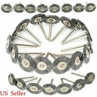 20/30/50Pcs Stainless Steel Wire Wheel Brush Cup For Grinder Dremel Rotary Tool