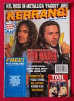 IRON MAIDEN Kerrang cover 1993  Def Lepp Robert Plant TOOL Def Leppard no poster