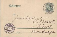 Reich Brief ( Germania Ganzsache ) Keeken > Wesel vom  10.12.1902