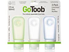 Humangear GoToob confezione da 3 tubo di viaggio medio 2floz / 60ml (chiaro / Verde / Blu)