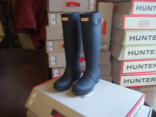 HUNTER WELLINGTONS IN HALIFAX AND BRADFORD   SIZE 3 NAVY ORIGINAL TALL WOMENS