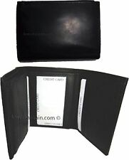 Lot of 2 Men's Genuine Leather Trifold Wallet Brown, 8 card 2 billfold wallet BN