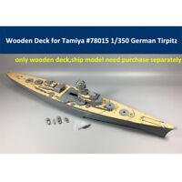 Wooden Deck for Tamiya 78015 1/350 Scale German Battleship Tirpitz Model