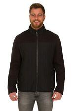 Mens Fleece Detail Full Zip Through Jacket Coat Ex M&S Casual  Black Rrp £49.50