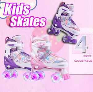 Roller Skates Adjustable Size for Kids/Adult 4 Wheels Children Boys Girls Gift!