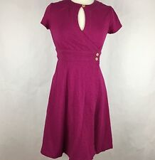 The Territory Ahead Women Wrap Dress Size 6 Burgundy Jersey Stretch Short Sleeve