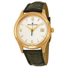 Jaeger LeCoultre Master Control Automatic Ivory Dial Leather Mens Watch Q1542520
