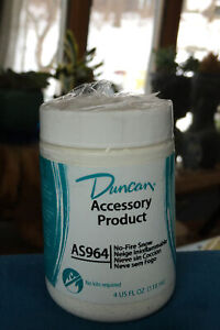 Duncan NO-FIRE Snow AS 964 Ceramic Accessory Product Project Finishing Snow