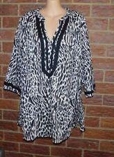 Cotton V-Neckline 3/4 Sleeve Tops & Blouses for Women