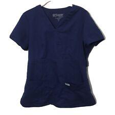 Grey's Anatomy by Barco Navy Blue Scrub Top M Medium 2 Pocket V Neck