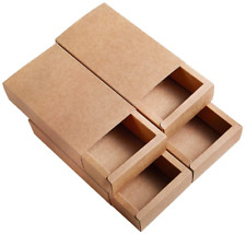 BENECREAT 16 Pack Kraft Paper Drawer Box Festival Gift Wrapping Boxes Soap Candy
