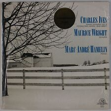 CHARLES IVES: Piano Sonatas, Maurice Wright Hamelin NEW WORLD Vinyl LP NW 378-1