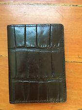 WILL LEATHER Men's Brown Snake Print Bi-fold Wallet Money Clip $110