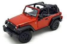 2014 Jeep Willys Wrangler 3.6l Open Top Bronce Maisto 31610