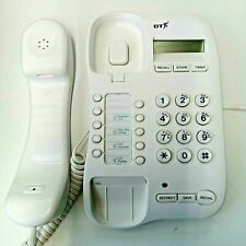 More details for bt push button home telephone digital display redial number recall white phone