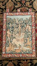 """Hunt of Unicorn at Fountain Medieval French Wall Tapestry by Goblys 24"""" x 35"""""""