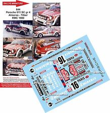 Decals 1/18 réf 644 Porsche 911 SC Almeras Monte Carlo 1980