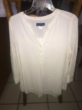 SIMPLY STYLED WOMENS CREAM BLOUSE SIZE L