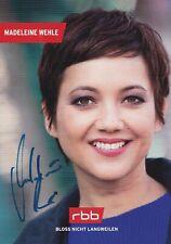 Autogrammkarte Madeleine Wehle - Moderatorin / RBB  / TV