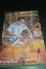 6.- XXXII FERIA NACIONAL GUITARRA vintage ad poster cartel MICHOACAN  Arte Mexic