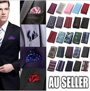 Men's Party Silk Suit Pocket Square Handkerchief Kerchief Towel Hanky 30 Colors