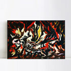 "Framed Canvas Art The Flame by Jackson Pollock Giclee Print Home Decor 24""x32"""