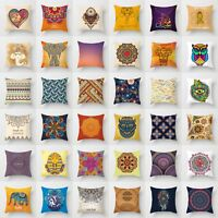 """18 """" Elephant Pattem Polyester Pillow Case Cushion Cover Waist Cover Home Decor"""